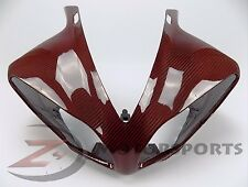 DISCOUNT 2009-2011 R1 Upper Front Nose Headlight Fairing Cowl Carbon Fiber Red