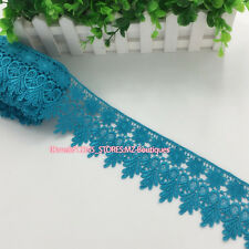 FP57 1 Yard, Crochet Lace Trim Ribbon Wedding Applique Dress Sewing Decor Craft