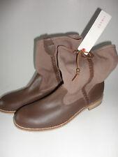 Neu Esprit Echtleder Textil Stiefel Stiefeletten Schuhe gr.40 braun Boots  Jeans