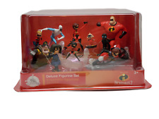 Disney Pixar Incredibles 2 Deluxe Figurine Set 10 Pc. Action Figures New