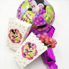 6 Pcs Minnie Mouse Kids Birthday Party Supplies Popcorn Box Case Gift Box