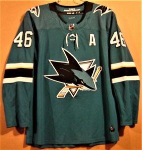 SAN JOSE SHARKS #46 SULLIVAN NHL TEAL ALTERNATE CAPTAINS JERSEY