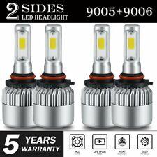 Combo 9005 9006 LED Headlight Bulb 6000K for GMC Sierra 1500 2500 HD 2001-2006