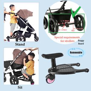 Für Kinderwagen Buggy Board mit Sitz Kiddy Board Trittbrett  Rollbrett bis 25KG
