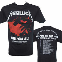 METALLICA - KILL EM ALL TOUR '83 - Official Licensed T-Shirt - New S M L XL