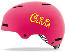 4 Personalised Name Stickers 2 LARGE 2 SMALL Helmets Bikes BOYS GIRLS DOOR WALL