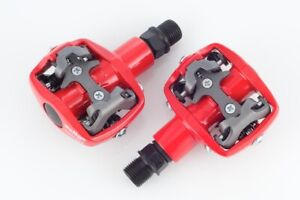 NEW WELLGO WPD-823 MTB BIKE CLIPLESS PEDALS SHIMANO SPD SH-51 w Cleat 98A RED