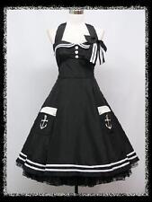 dress190 Übergröße Schwarz 50er Retro Rockabilly Abschlussball Partei Kleid 52