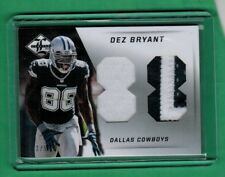 2013 PANINI LIMITED DEZ BRYANT DUAL JUMBO PATCH RELIC #88 3/5 COWBOYS
