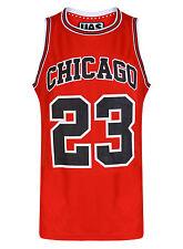 Mens Chicago Basketball Jersey Gym Vest Sports Top Urbanallstars Sleeveless Tee S Red