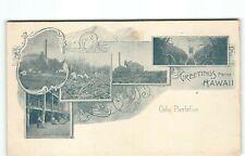 Earliest 1901 PMC Oahu Sugar Mill Plantation Greetings from Hawaii~Postcard -H4