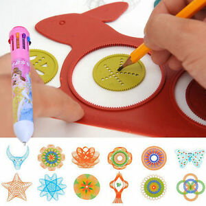 Spirograph Design Early Learning Creative Educational Toy Drawing Ruler Set oRWR