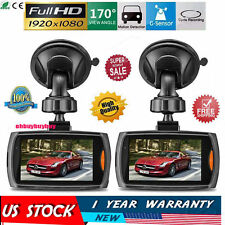 "2x Full HD 1080P 2.4"" Car DVR Recorder CCTV Dash Camera G-sensor Night Vision GO"