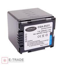 4200mAh  Battery for  Panasonic CGA-DU21 CGA-DU12 CGA-DU07 VW-VBD120 VW-VBD140