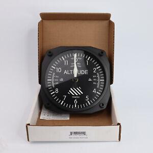 """Trintec 9060 Altimeter Wall Clock 6.5"""" Square"""