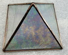 Clear iridized baroque Stained Glass and Copper Metaphysical Power Pyramid