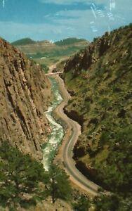 Vintage Postcard 1956 Big Thompson Canyon Rocky Mountain National Park Colorado
