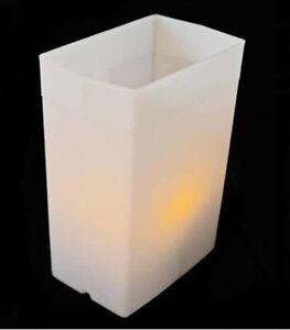 WHITE LUMINARY ELECTRIC BOX LIGHT SET - 1 UNIT - CHRISTMAS / WINTER HOLIDAY