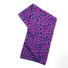 "NWT Vera Bradley Purple Leopard Spots Knit Scarf Large 13"" x 76"" New"