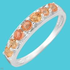 sapphires band sz.7 Sterling Silver7 stone Orange