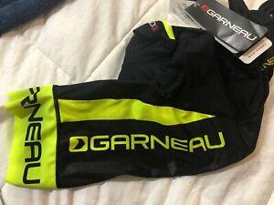 Louis Garneau Corsa 2.0 Bib Shorts Black/Neon Green Size S