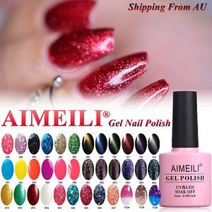 AIMEILI 2 / 4 / 6 / 12 Colors UV LED Soak Off Gel Nail Polish Set Top Base 10ml