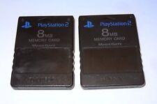 Sony PlayStation 2 Black 8 MB Memory Card Magic Gate N1158 - Lot of 2