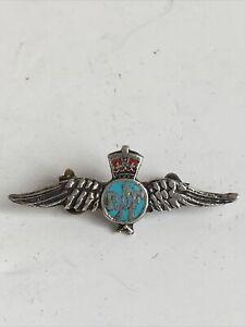 Vintage RAF Silver & Enamel Sweetheart Pin Brooch Badge BR
