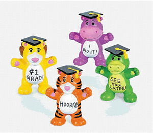 Graduation Animals Set of 4                         (Free Shipping with 6 items)
