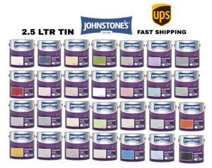 Johnstone's 2.5 Litre Washable Matt Emulsion Paint - All 31 Colours Fast Deliv