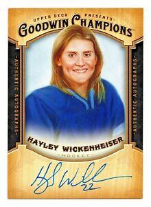 2014 Goodwin Champions Autograph Hayley Wickenheiser Canada Olympic Champion