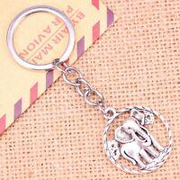 Silver Elephant Pattern Animal Nature Keyring Keychain + Free Gift Bag