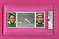 1912 T202 HASSAN TRIPLE FOLDER BASEBALL CARD CHARLIE DOOIN PHILLIES PSA 4