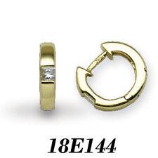 Hoop Yellow Gold SI1 18 Carat Fine Diamond Earrings