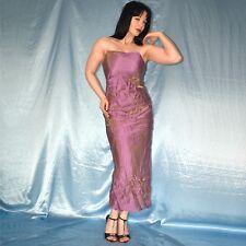 lila-gold SATINKLEID* S 36 * glänzendes Abendkleid* Cocktailkleid* Partykleid