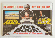 Mad Max Double Feature FRIDGE MAGNET (2 x 3 inches) movie poster road warrior 2