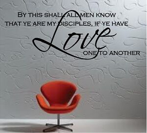 """BY THIS SHALL ALL MEN KNOW... VINYL DECAL HOME DECOR 10"""" x 27"""""""