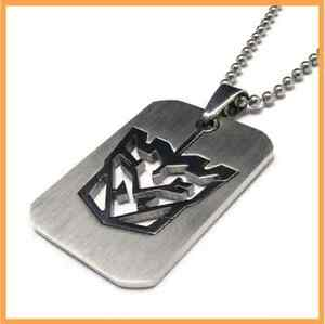 """Transformers Autobots Logo Necklace Stainless Steel 1.25"""" X 1"""" US Seller"""