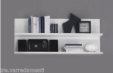 Schienale con 2 Mensole PRIMO Bianco Laccato Lucido Moderno Elegante