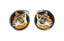 CUFFLINKS TIGER URSO LUXURY IN STERLING SILVER 925 AND ENAMELS 30% OFF