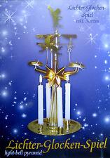 Engelsgeläut Klingelpyramide ähnlich DDR Pyramide Lichter Glocken Spiel+Kerzen