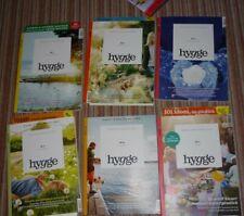 6 x HYGGE - Zeitschrift sehr guter Zustand - Nr. 1 - 2 - 4 - 5 - 6 - 7