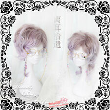 Harajuku Kawaii Purple Pink Gradient Wig Mixed Lolita Curly Hair Daily Gothic BL