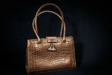 LIZ CLAIBORNE bronze leather hand bag purse handbag