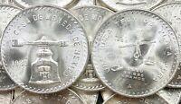 VINTAGE • 1980 Mexican Una Onza Balance Scale • 1 oz Silver Coin • Blast White!