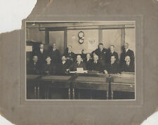 1916 PHOTOGRAPH OF WELL-DRESSED TOWNSMEN IN FIREHOUSE - EUREKA, COLORADO