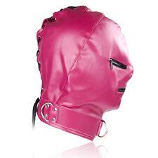 Fetish Gimp Hood Face Mask Faux Leather Henchman Guillotine Hood smab40-r