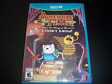 Replacement Case (NO GAME) Adventure Time NINTENDO WII U 100% Original