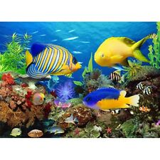 Poissons d'aquarium sea world diy diamant peinture mosaïque kit photo