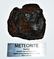 NANTAN IRON NICKEL METEORITE -Genuine-538.6  gram + label & COA# 14347 22o
